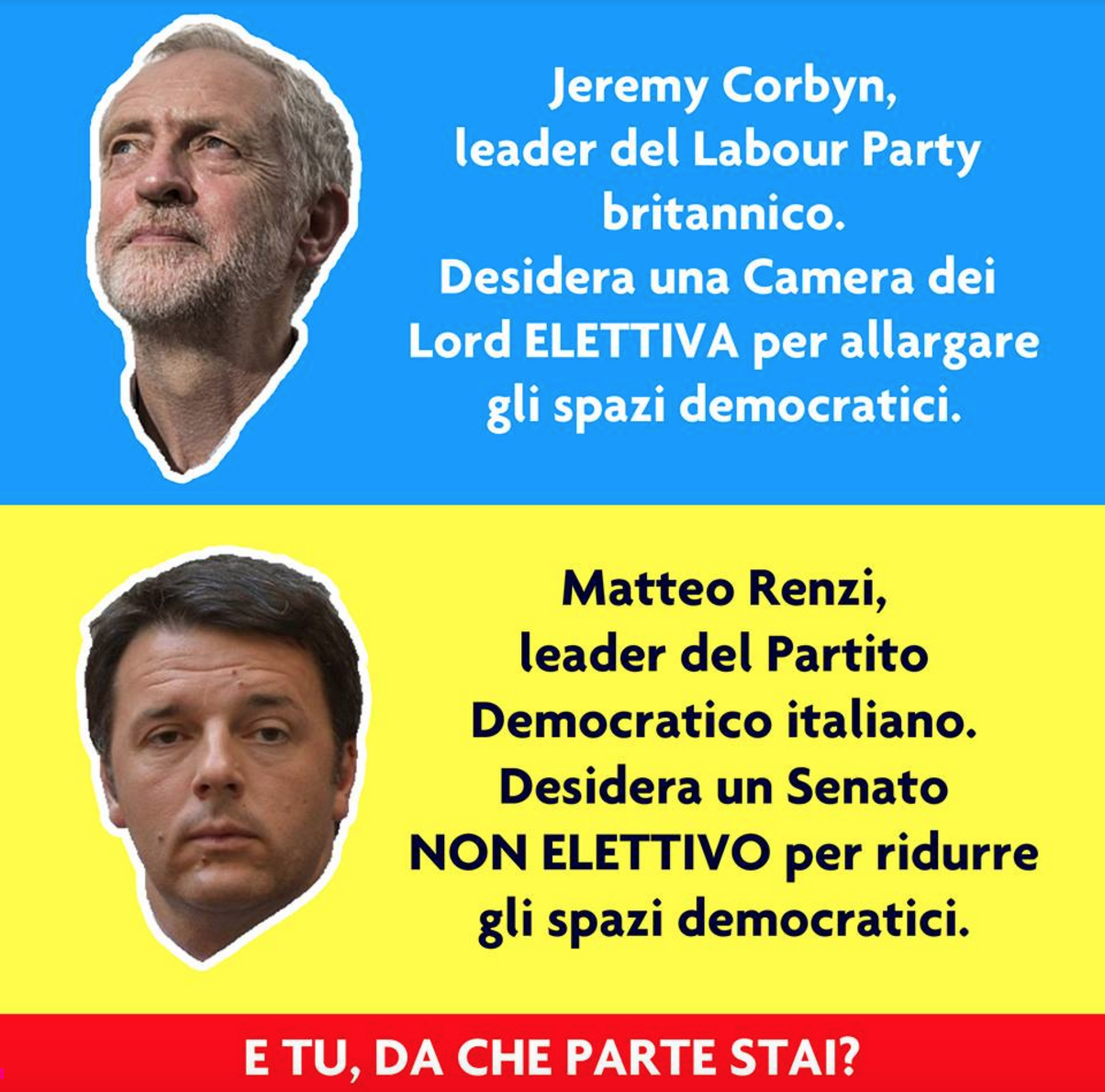 corbyn renzi differenze sul senato